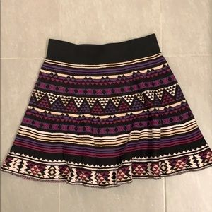 Forever 21 Aztec Sweater skirt Size XS